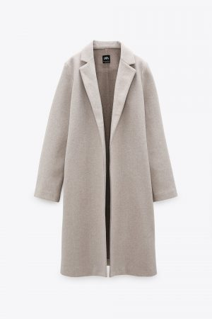 Zara Coat With Lapel Collar